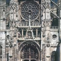 La façade sud du transept (1993)