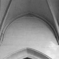 Les parties hautes du mur nord de la travée droite de l'abside (1994)