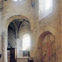 Vue partielle de l'intérieur de la chapelle pré-romane vers le sud-est (1993)