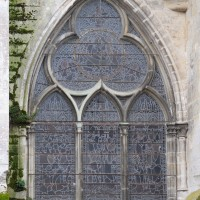 Fenêtre trilobée à la façade nord du transept (2018)