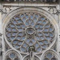 La rose de la façade nord du transept (2018)