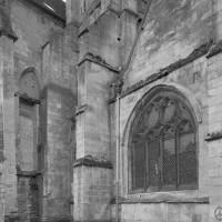 La base du clocher nord vue depuis le nord-ouest (1993)