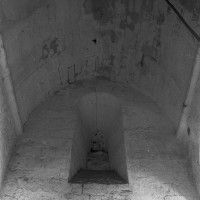 La voûte en berceau de la base du clocher (1996)
