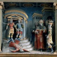Le retable, scène 4 : Silvanus est jeté dans le Tibre (1995)