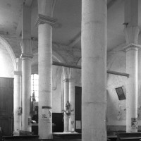L'intérieur vu vers le sud-est depuis le bas-côté nord (1996)