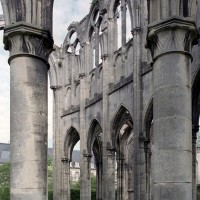 Le mur nord du choeur vu depuis le déambulatoire (2006)