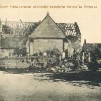 L'église en 1917