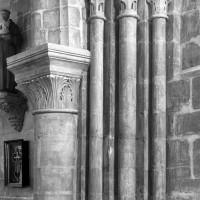 La retombée nord de l'arcade ouest du bras nord de l'ancien transept (1999)