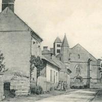 Le village et l'église en 1905