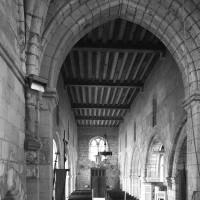 Vue partielle du choeur et de la nef vers l'ouest