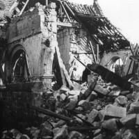 L'église en août 1918