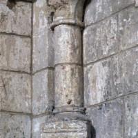 Retombée de la voûte de la travée droite du choeur à l'angle nord-ouest (2006)