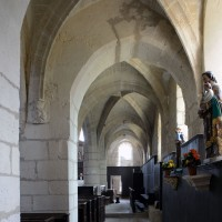 Le bas-côté sud de la nef vu vers l'est (2019)