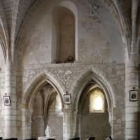 Le mur gouttereau nord de la seconde travée de la nef vu vers le nord (2019)