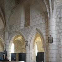 Le mur gouttereau sud de la seconde travée de la nef vu vers le sud-est (2019)