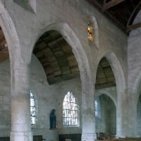 L'élévation nord de la nef vue vers le nord-est (2008)