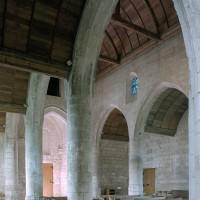 L'élévation nord de la nef vue vers le nord-ouest (2008)