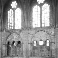Elévation partielle du mur gouttereau nord de la nef vue vers le nord depuis les parties hautes de la nef