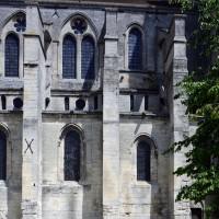 Elévation sud de la nef (à gauche) et de la travée droite du choeur (à droite) (2017)