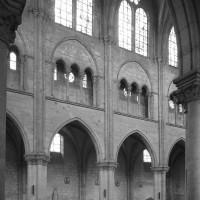 L'élévation du mur gouttereau nord de la nef vue vers le nord-est