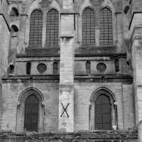 Elévation sud de deux travées de la nef