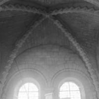La voûte de la travée nord de la tribune de l'avant-nef vue vers le nord (1996)