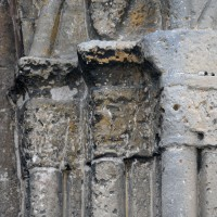 Les chapiteaux de droite du portail ouest (2017)