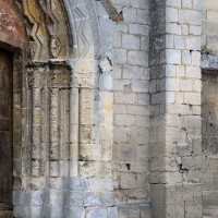 Vue partielle de la façade ouest avec le contrefort plat du 11ème siècle (2017)