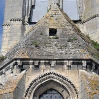 La toiture en pierre de l'abside vue de l'est (2017)