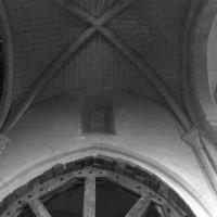 La voûte de la seconde travée de la nef vue vers le sud (1995)