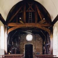 La charpente du clocher vue vers l'ouest (2005)