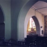 Vue partielle du choeur depuis la travée du clocher vers le nord-est (2005)
