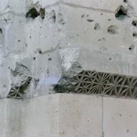 Tailloir à décor géométrique d'une pile de la nef (2007)