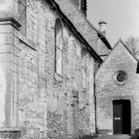 Le mur sud de la nef vu du sud-ouest (1974)