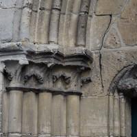 Les chapiteaux de la partie gauche du portail ouest (2016)