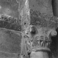 Chapiteau de l'arcade du bas-côté sud de la nef, côté gauche (1970)