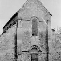 La façade ouest de la nef (1970)