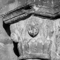 Chapiteau de l'arcade du bas-côté nord de la nef, côté droit (1969)