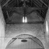 Vue partielle des parties hautes de la nef vers l'est (1969)