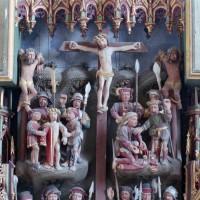 Partie haute du retable : la Crucifixion (2008)