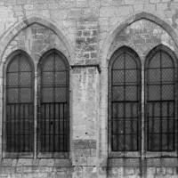 Les fenêtres nord de la chapelle du 13ème siècle (1972)