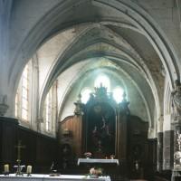 La chapelle du 13ème siècle vue vers l'est.