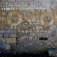 Oculi à la partie ouest du mur nord de la nef (2016)