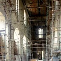 L'intérieur, en cours de restauration, vu vers le sud-ouest (1996)