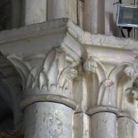 Chapiteaux à la retombée de l'arcade ouest de la croisée du transept (2019)