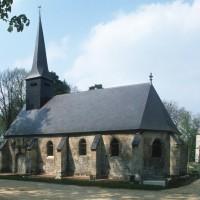 L'église et le château vus depuis le sud-est (1993)