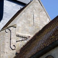 Billettes à la base de la face ouest de l'ancien clocher (2017)