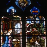 Vitrail du 16ème siècle : l'Annonciation (1997)