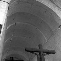 La voûte en berceau de la base du clocher (1997)