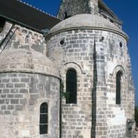 Le chevet de l'église vu du sud-est (1995)